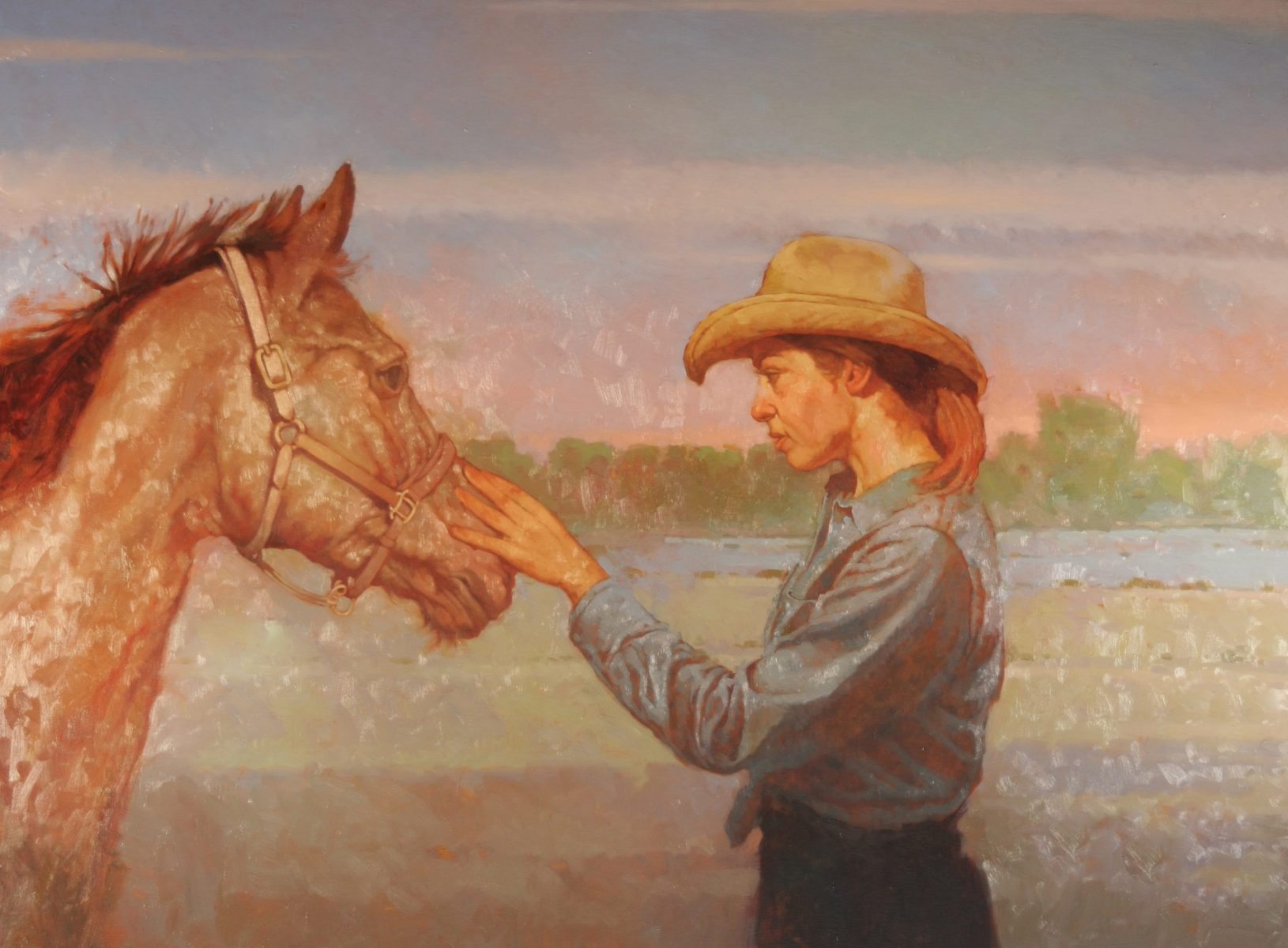 A Girl and Her Horse painting by Joseph Lorusso