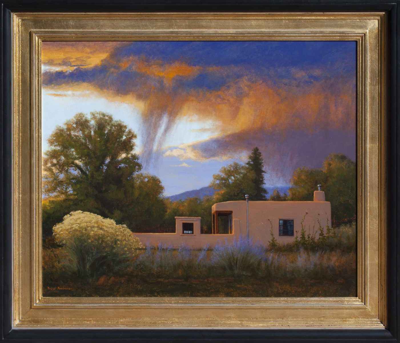 Adobe and Virga painting by Dix Baines