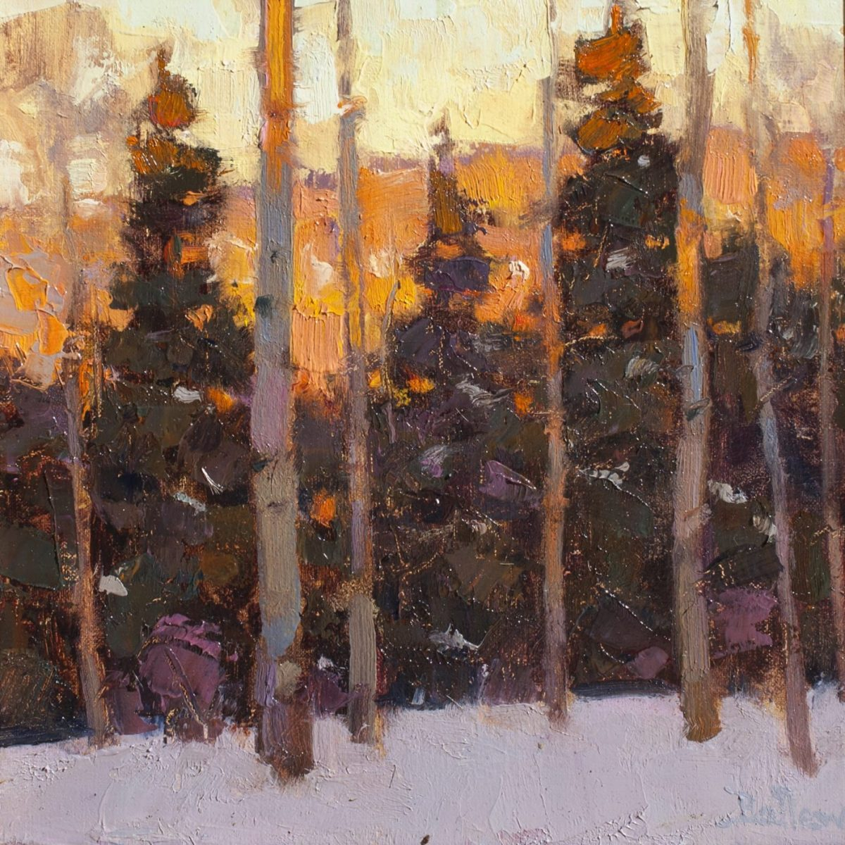 Alpenglow painting by artist David Ballew
