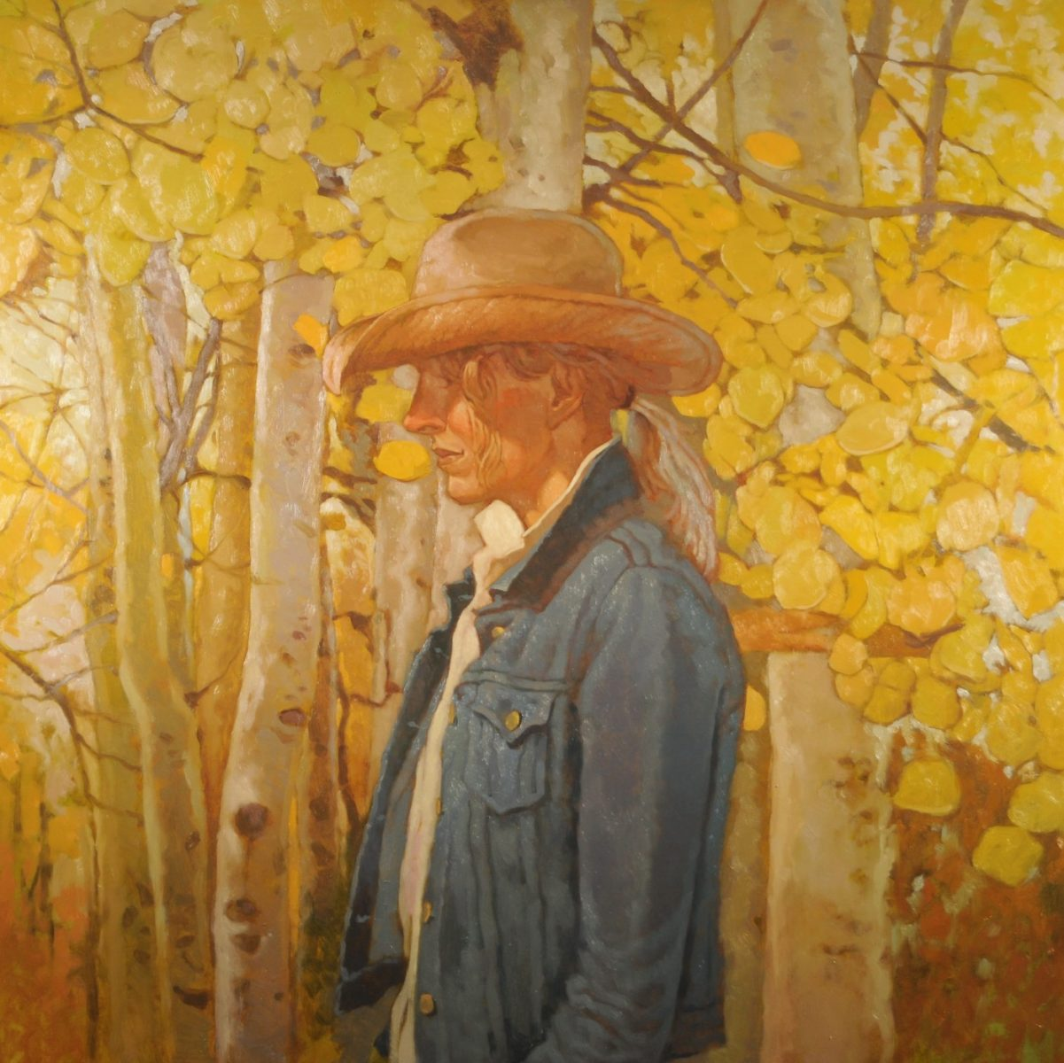 Among the Aspens painting by Joseph Lorusso