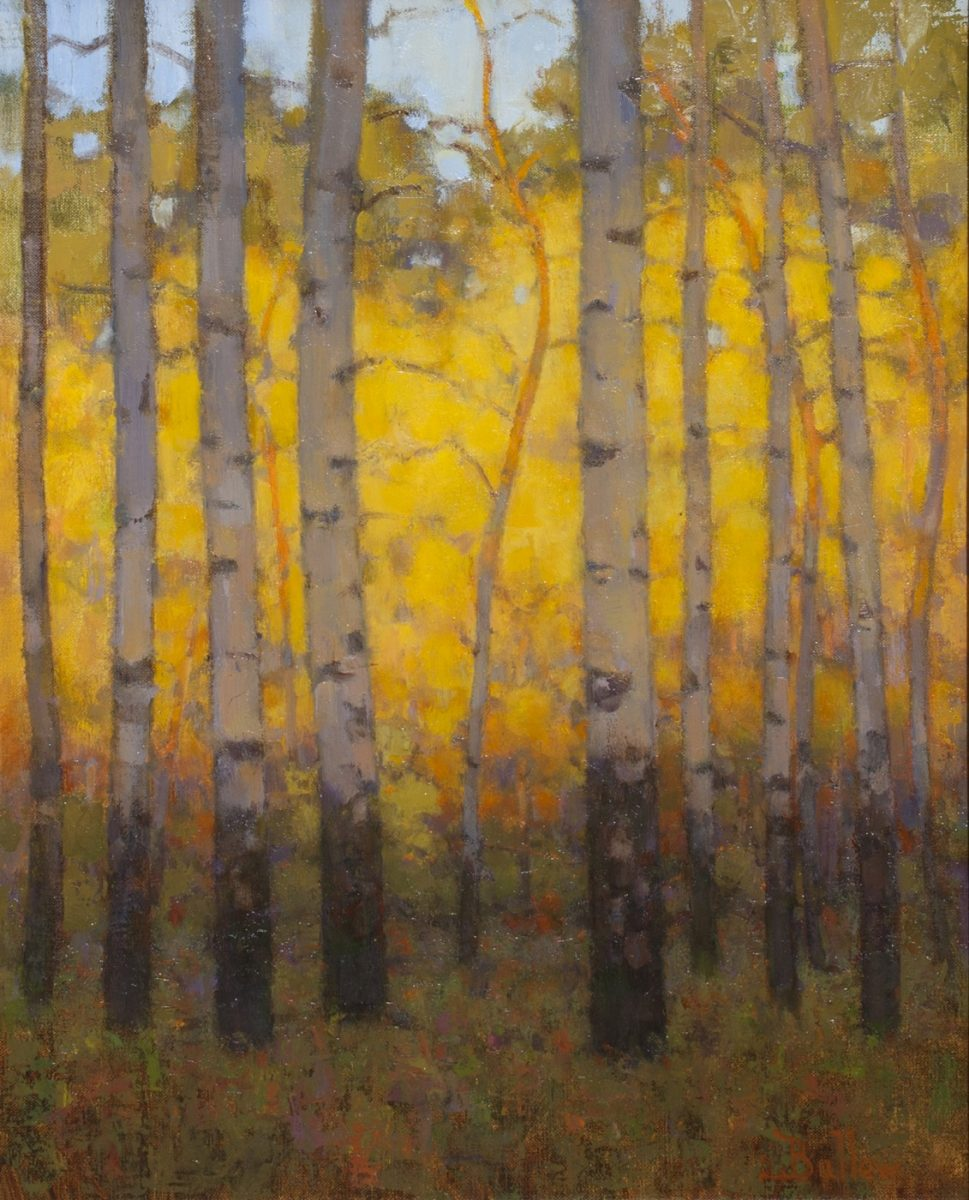 Autumn Evening Aspens painting by David Ballew