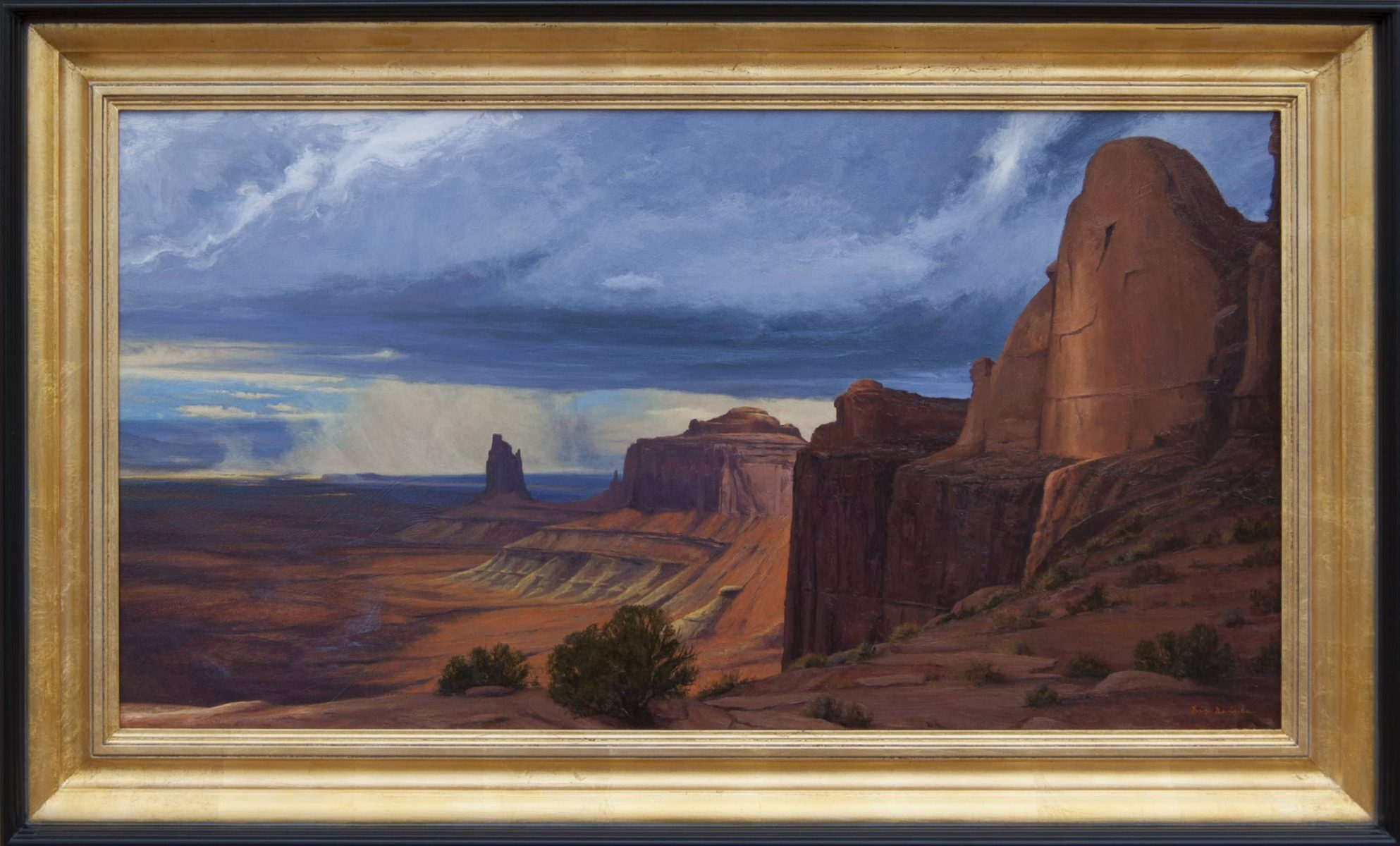 Awful Grandeur painting of Canyonlands national park by artist Dix Baines