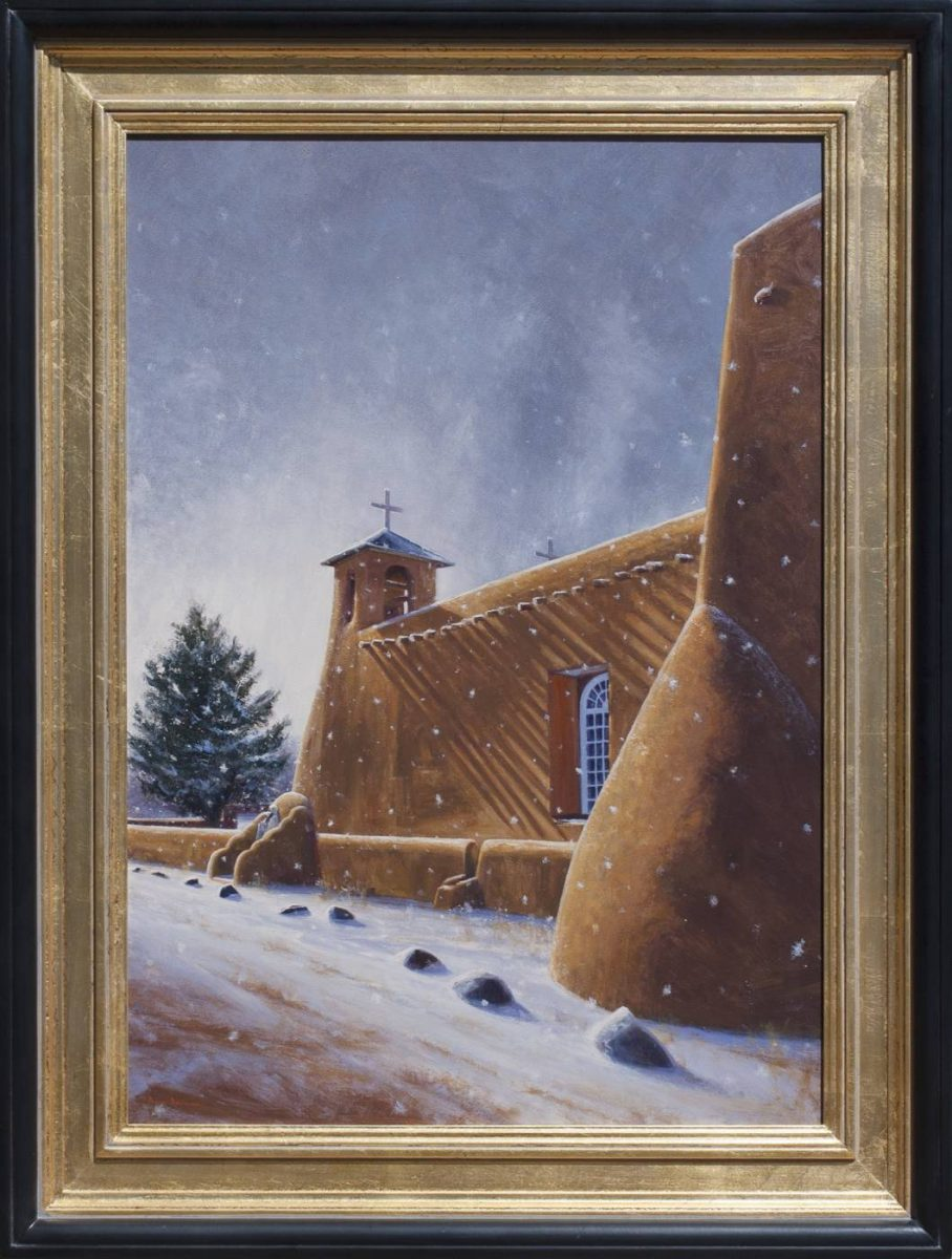 Adobe Light on Ranchos de Taos by Dix Baines