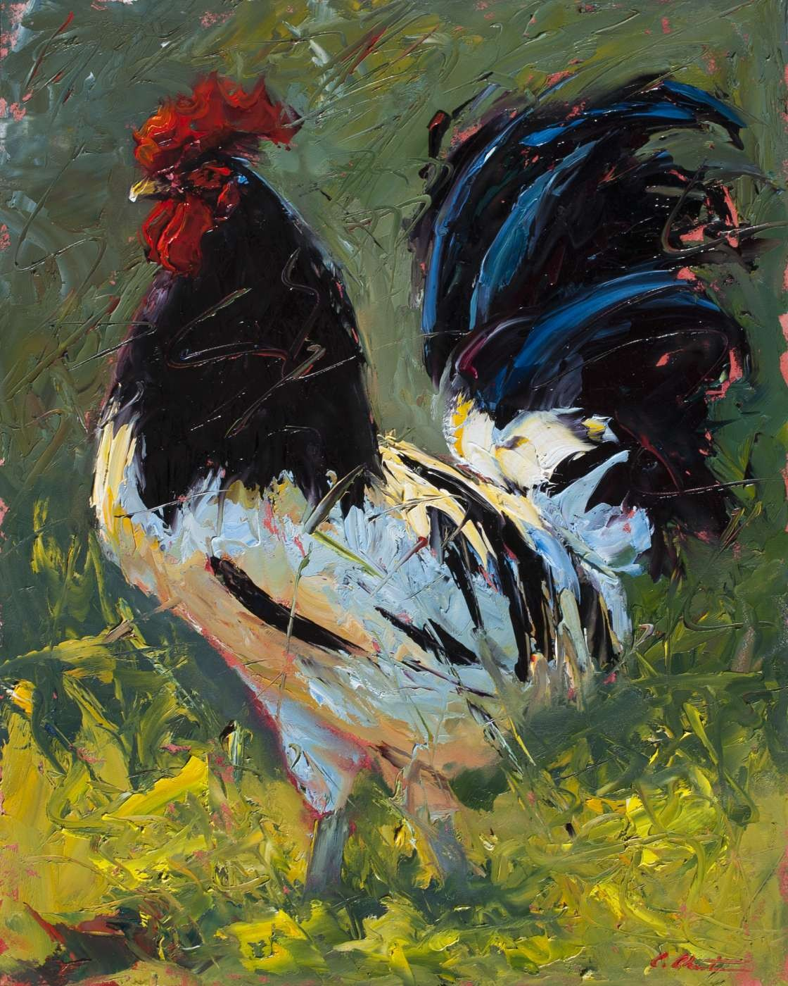 rooster painting by Cheri Christensen