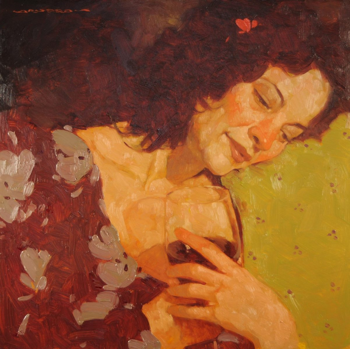 Contemplation painting by Joseph Lorusso
