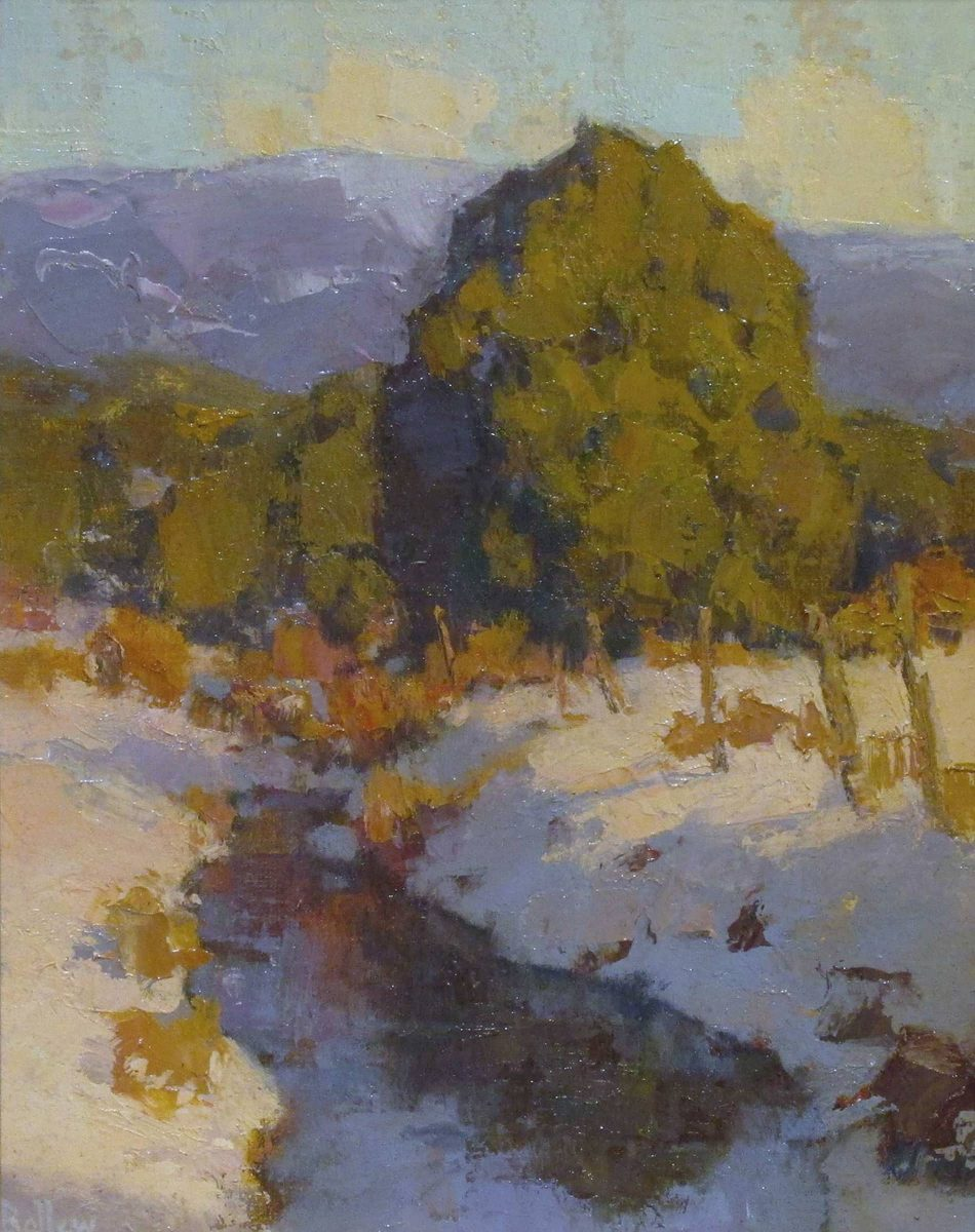 Early Spring Acequia by artist David Ballew