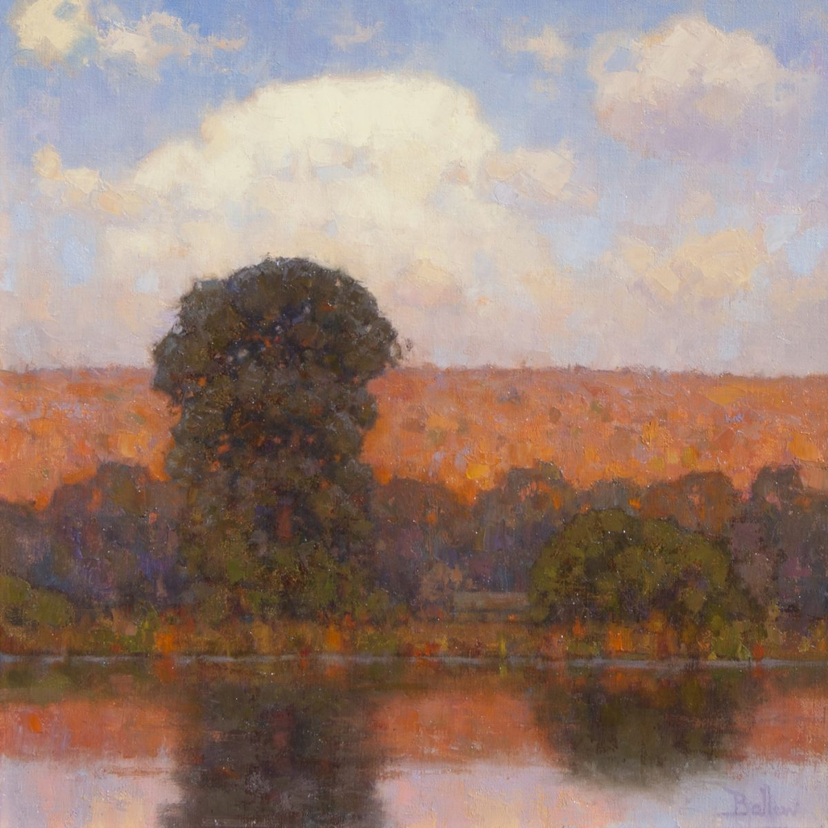 Evening Along the River painting by David Ballew