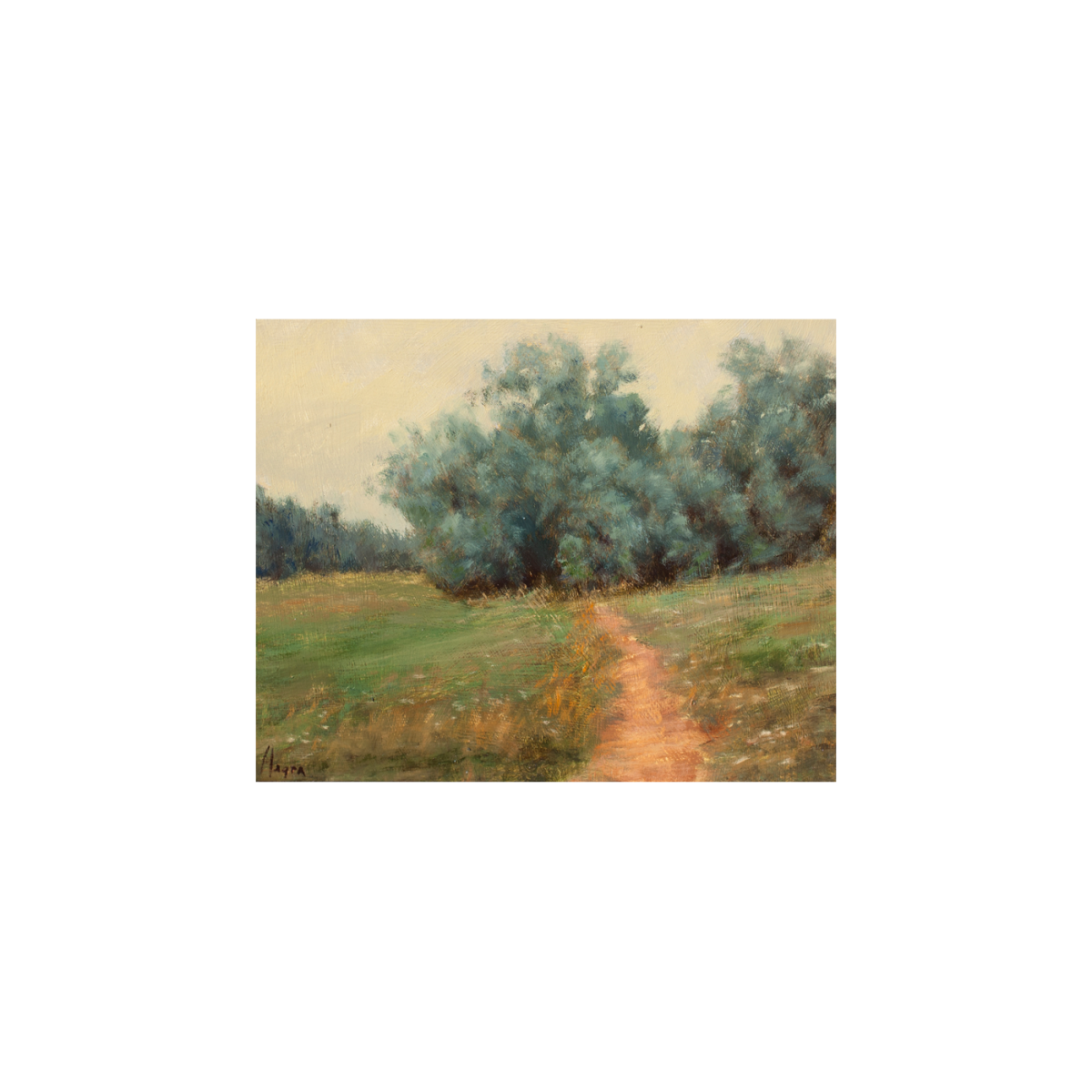 Evening Russian Olive painting by Peter Hagen