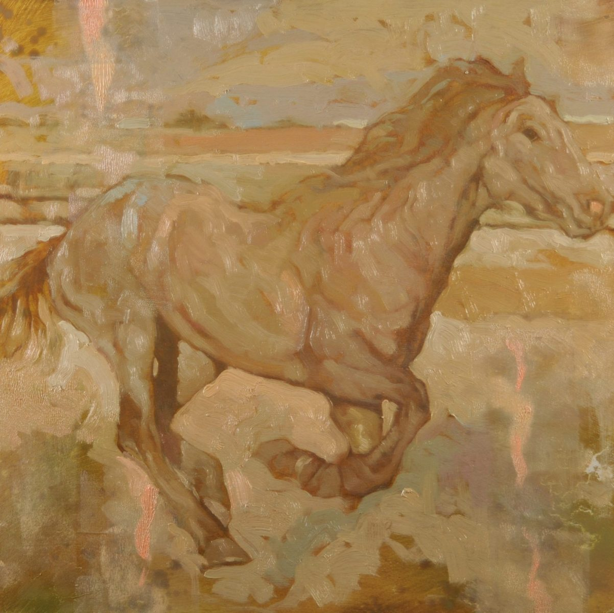Full Gallop painting by artist Joseph Lorusso