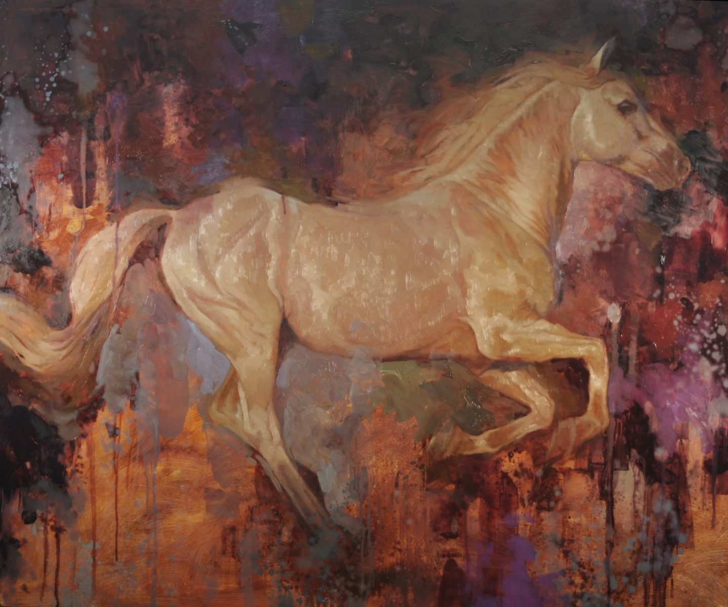 Fury painting of a horse by Joseph Lorusso