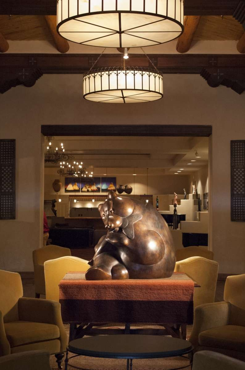 Tim Cherry bear sculpture at the Eldorado Hotel in Santa Fe, NM