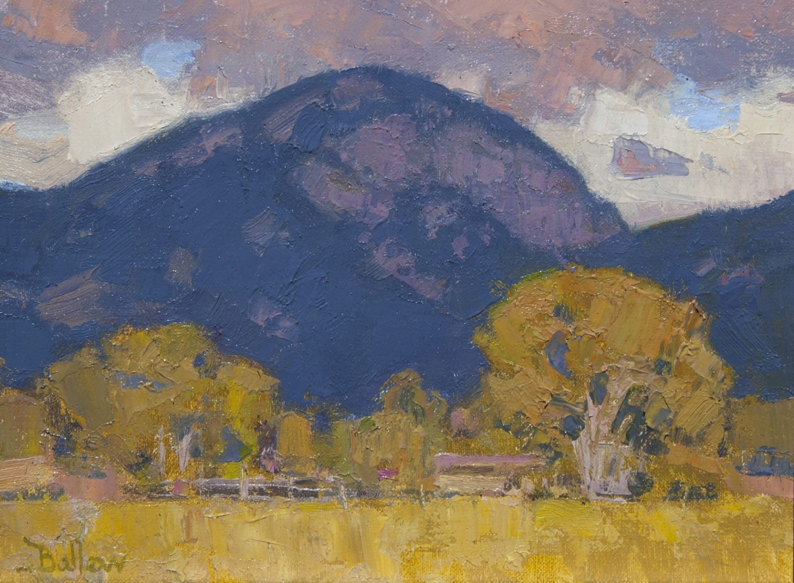 Lucero Peak in Shadow painting by David Ballew