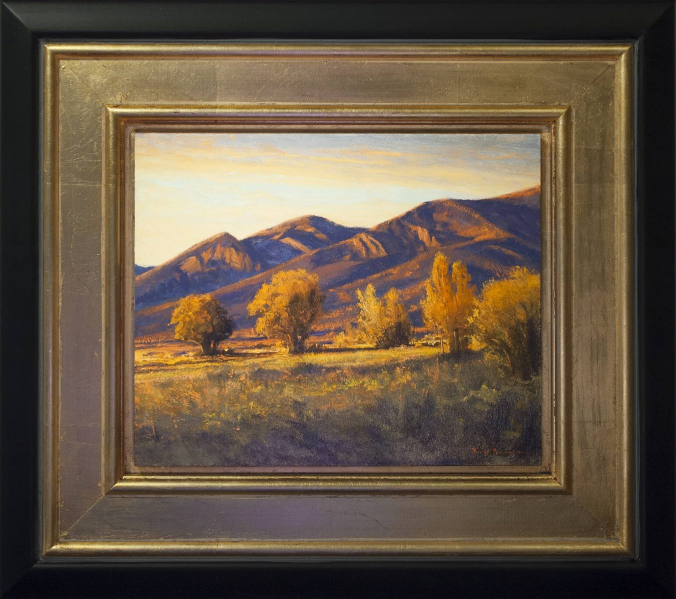 New Mexico landscape oil painting by Dix Baines