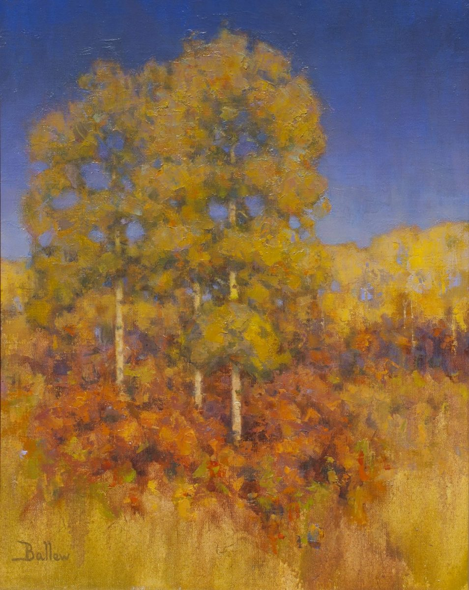 October Aspens by Landscape Oil Painter David Ballew
