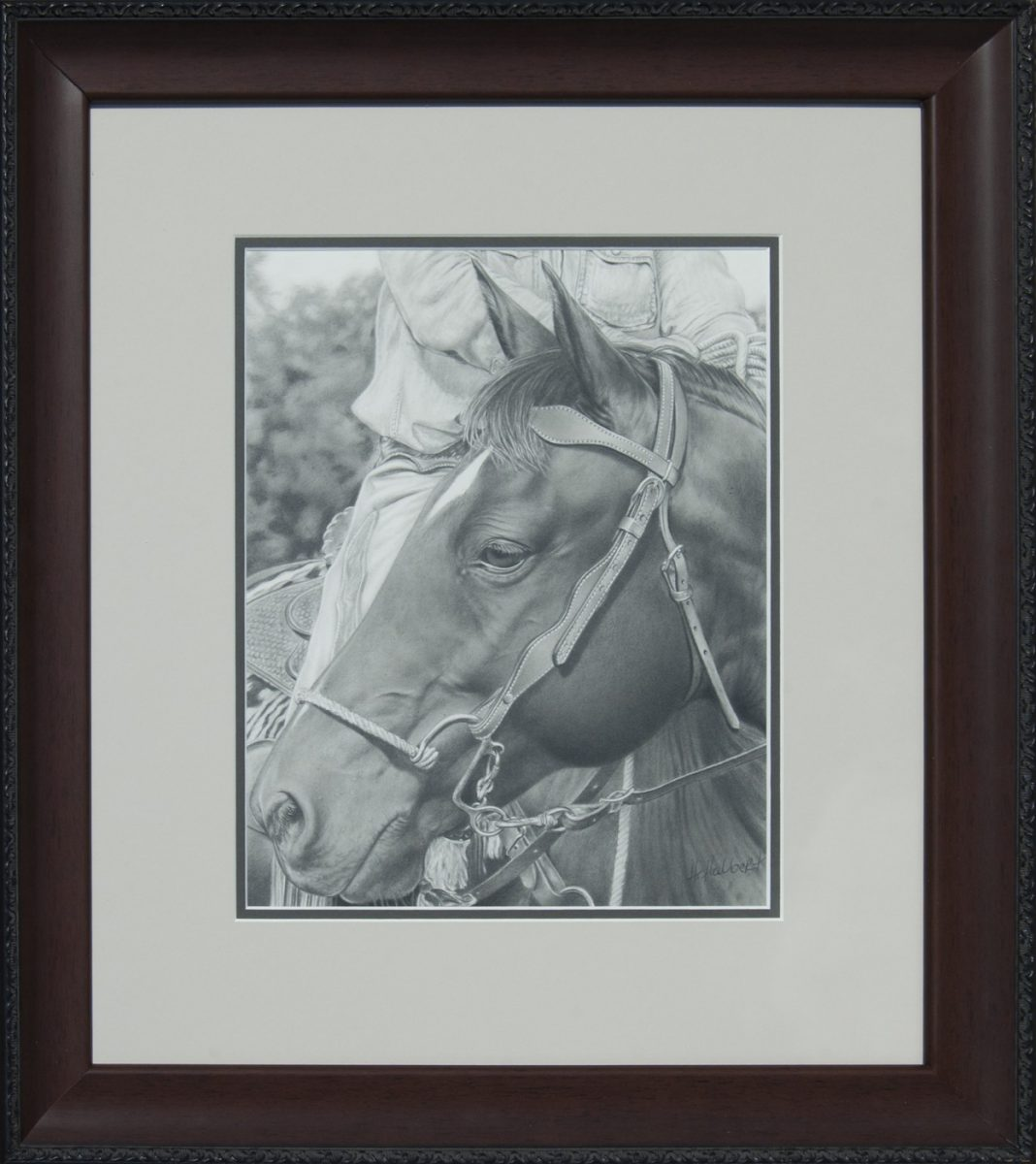 Relaxed graphite drawing by Howard Halbert
