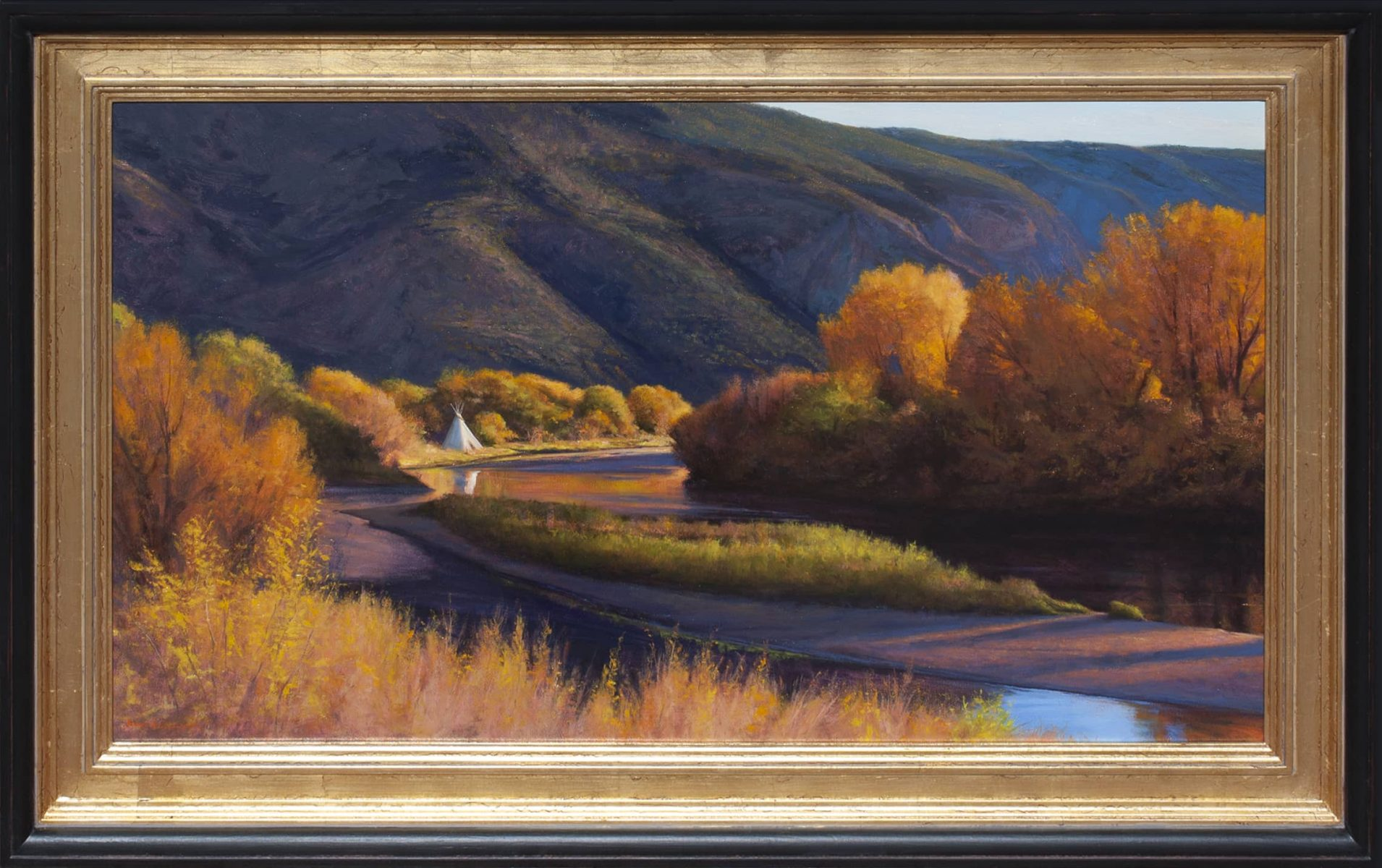 Rio Grande Afternoon painting by Dix Baines