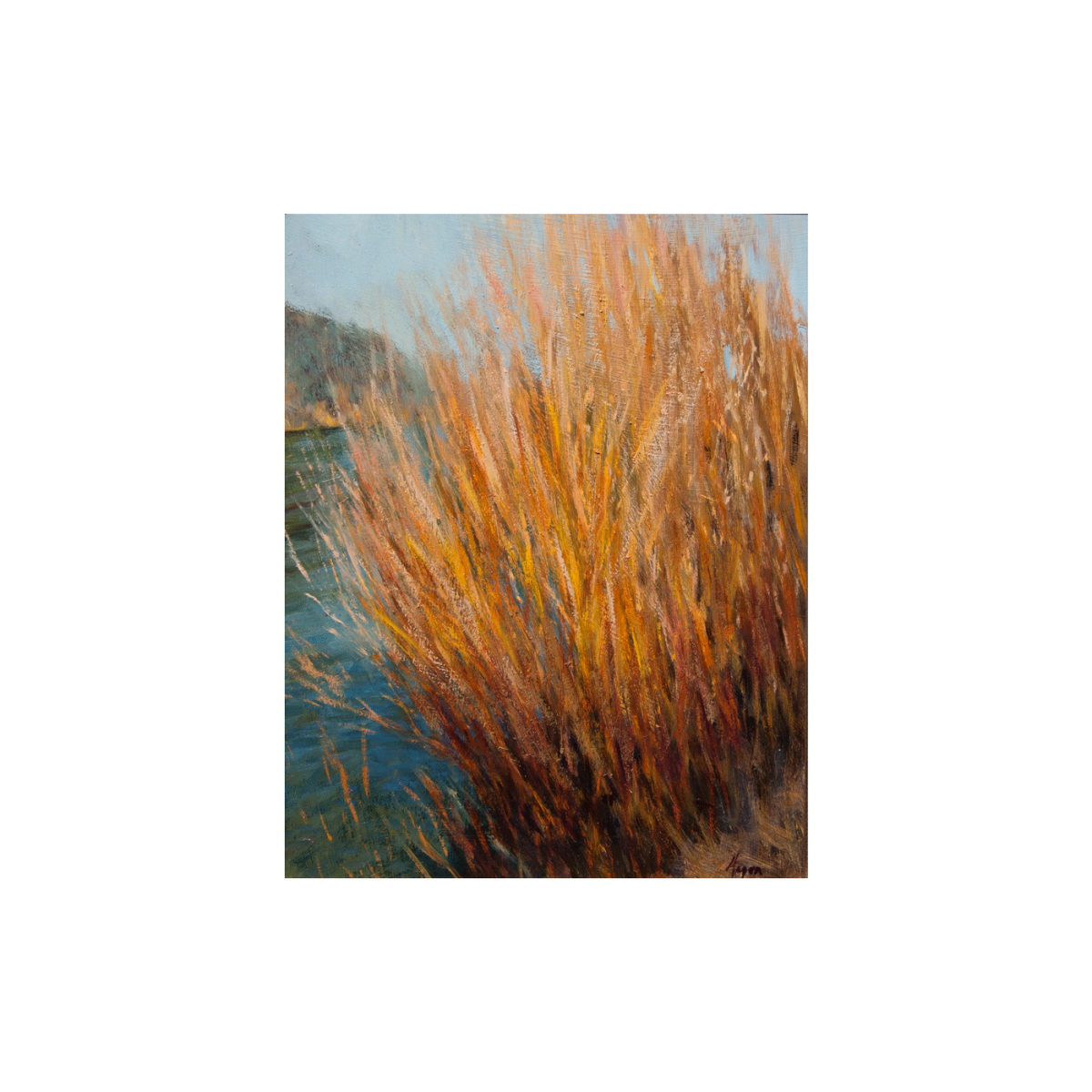 Rio Willows painting by Peter Hagen