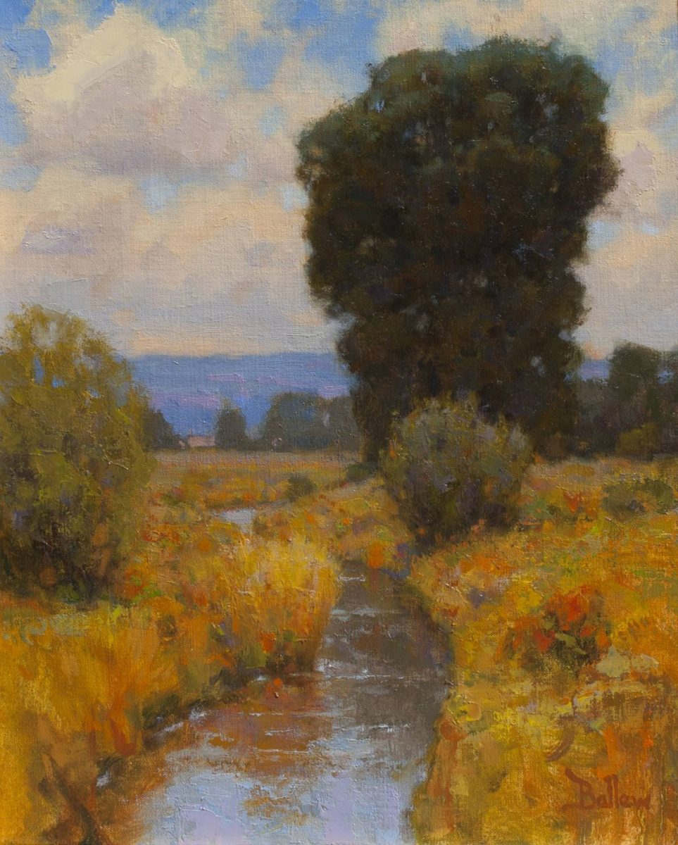 September Acequia by David Ballew