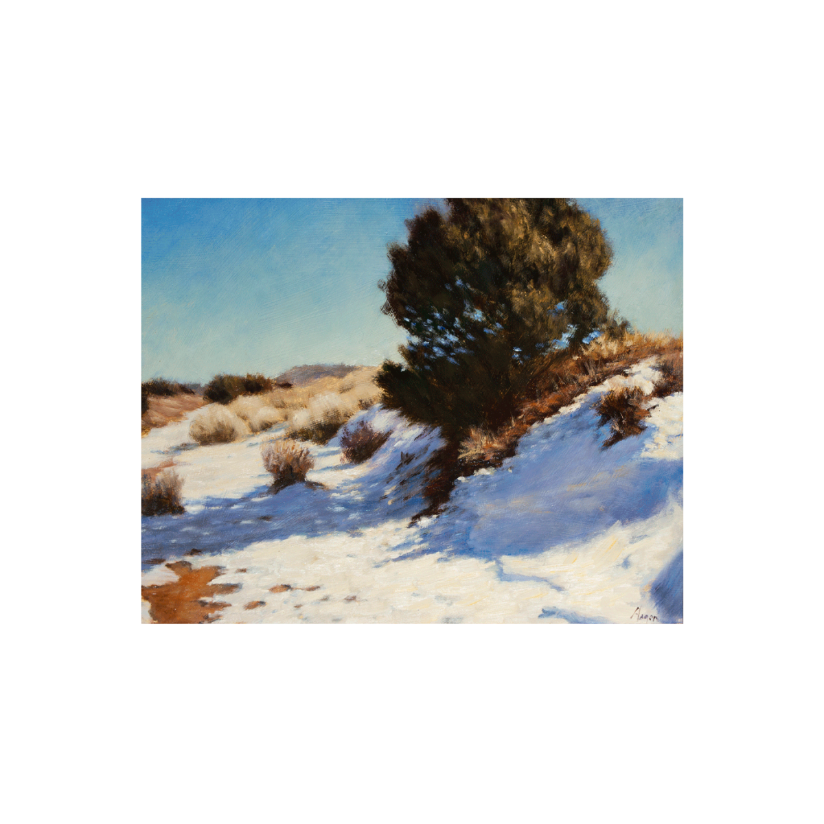 Snow Banks painting by Peter Hagen
