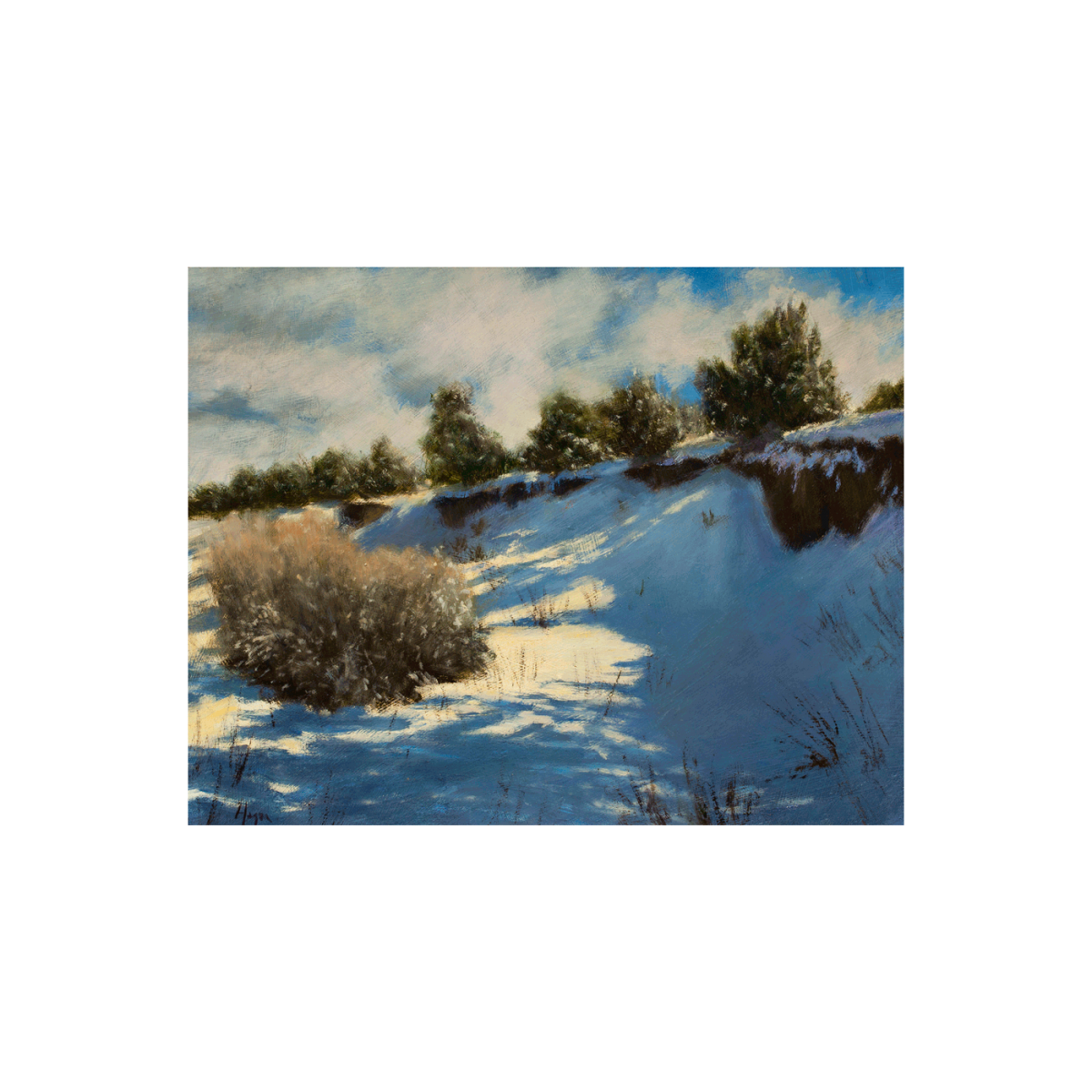 Snow Drifted Arroyo painting by Peter Hagen