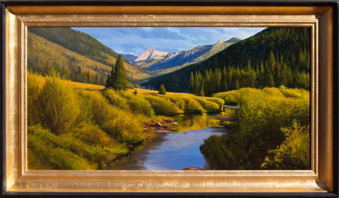 Colorado Mountain landscape painting by artist Dix Baines