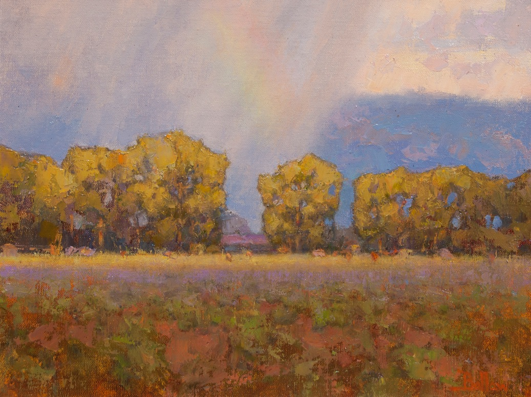 Summer Showers, Taos painting by David Ballew