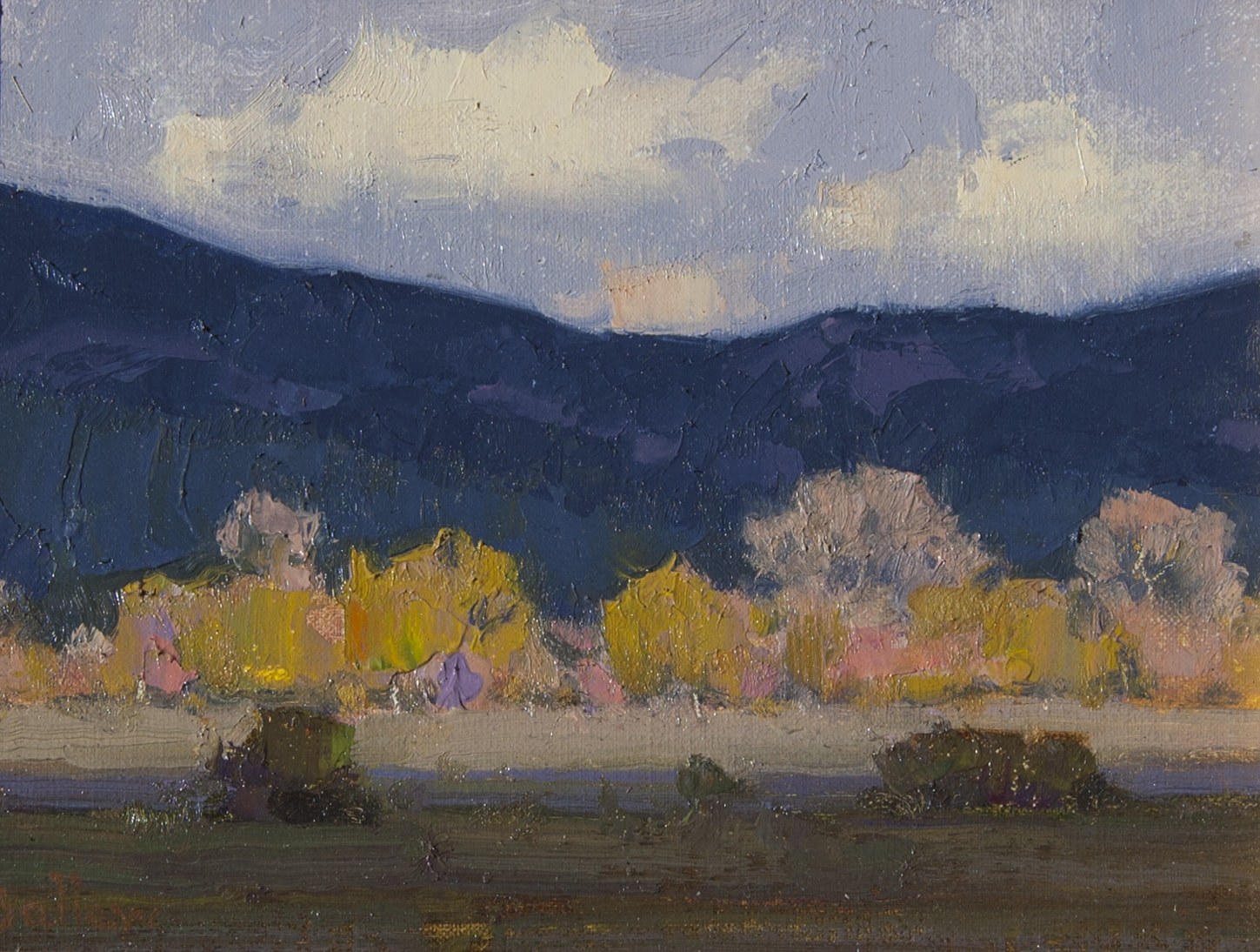Sunlight and Shadow, Taos painting by David Ballew
