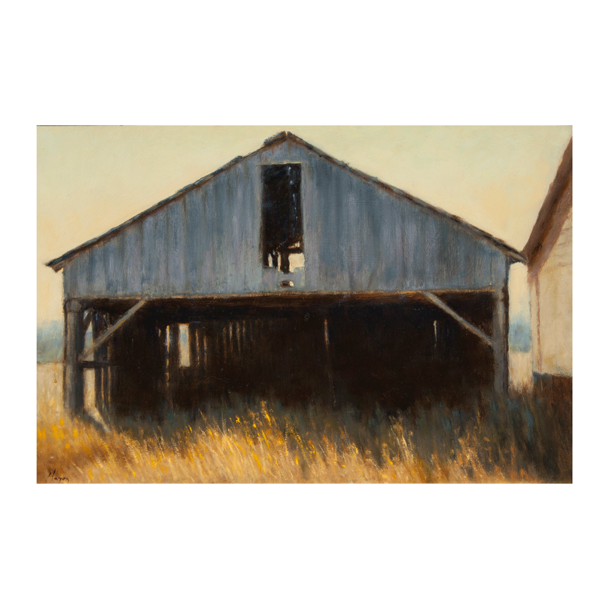 Vacant painting of a barn by Peter Hagen