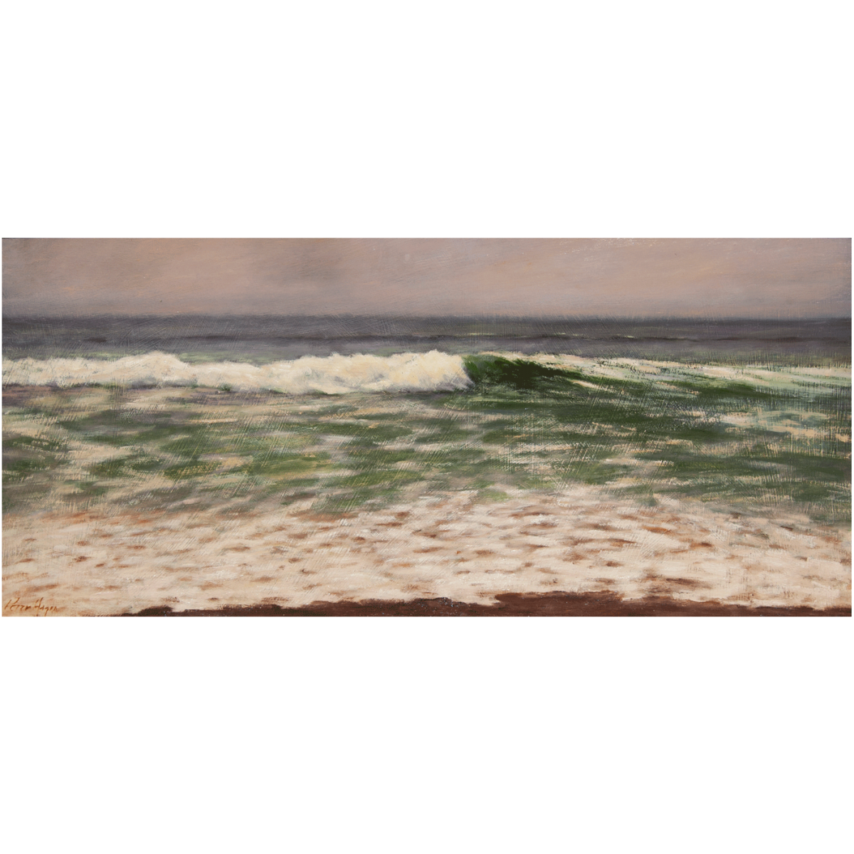 painting of a wave in the ocean by artist Peter Hagen