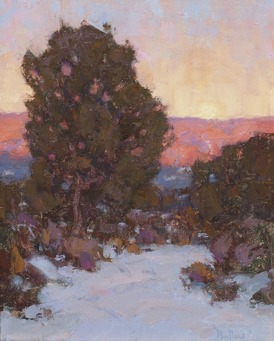 Winter Evening Arroyo painting by David Ballew