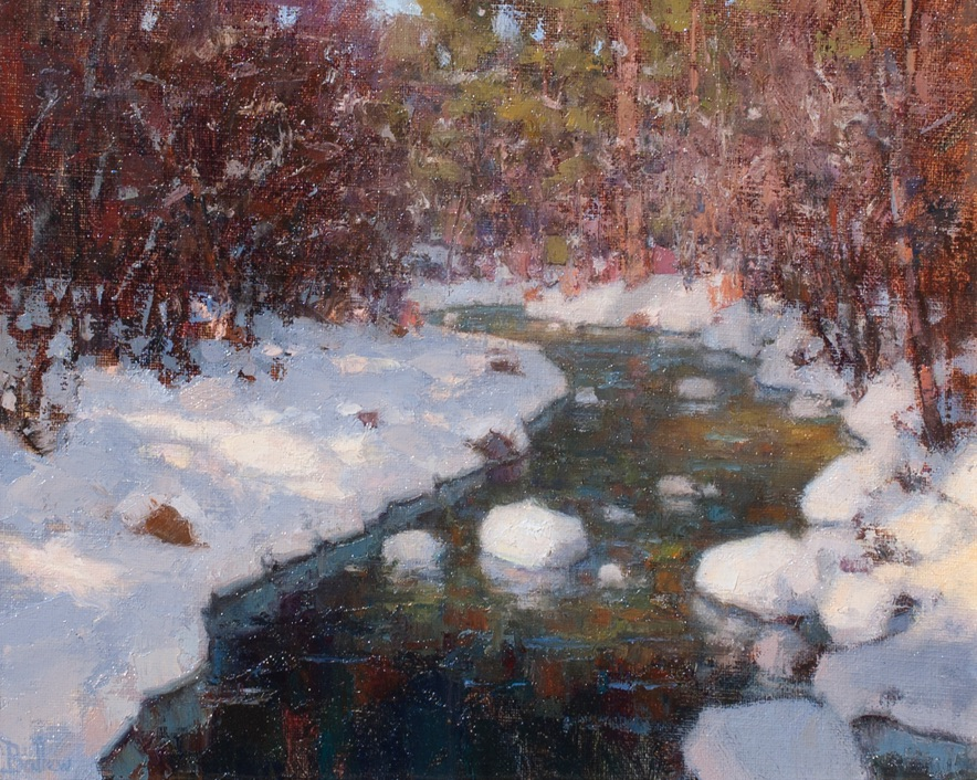 Winter Morning, Pecos River painting by artist David Ballew