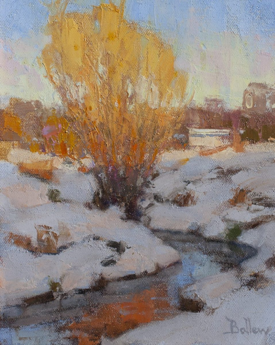 Winter Willows painting by artist David Ballew