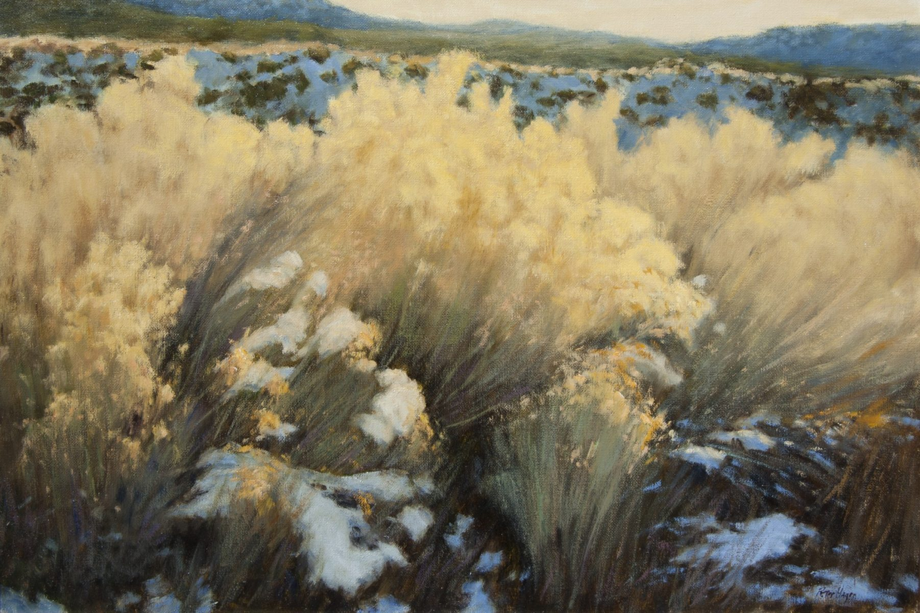 Winter Yellow painting by Peter Hagen