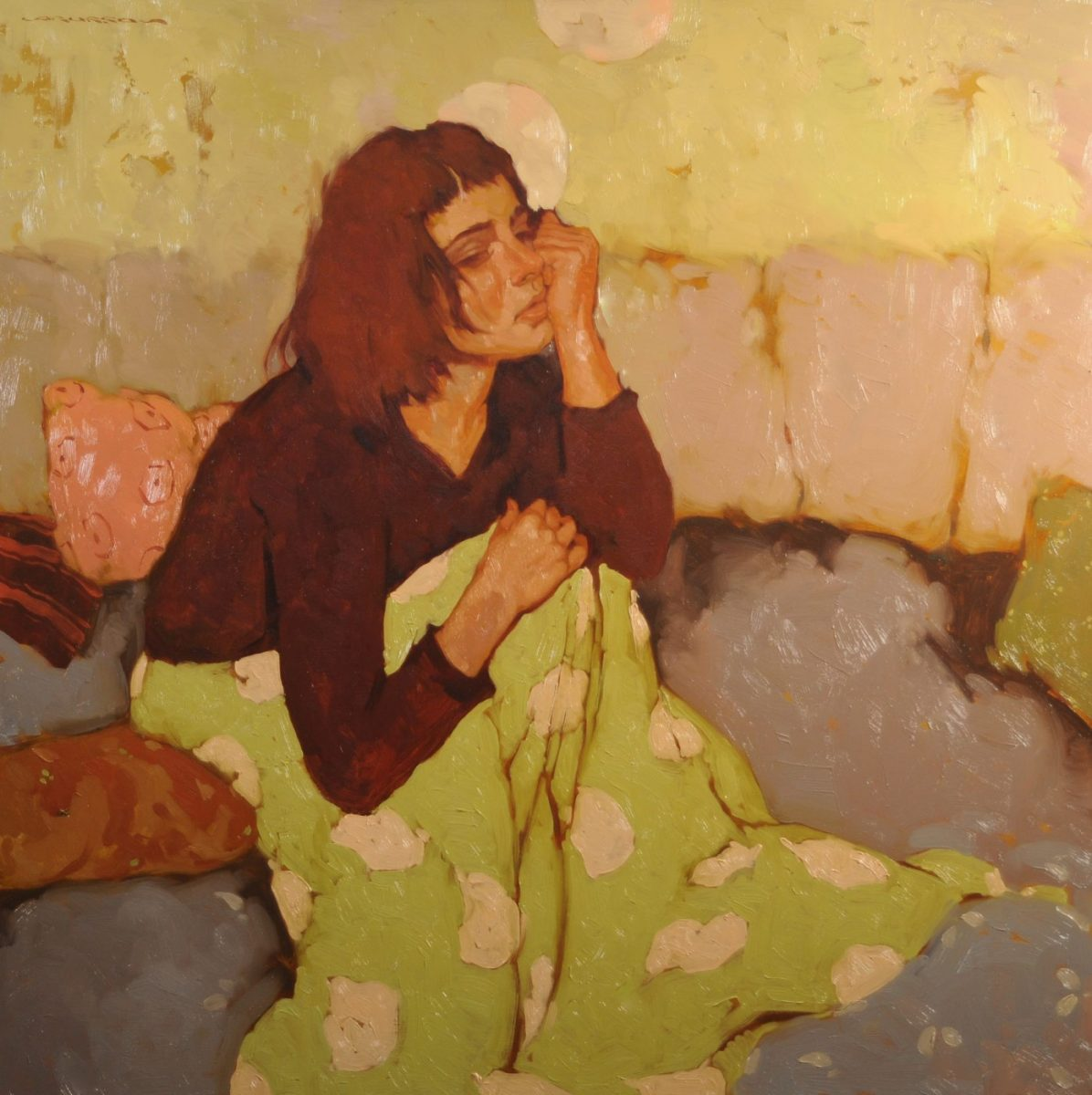 With her own Thoughts painting by Joseph Lorusso