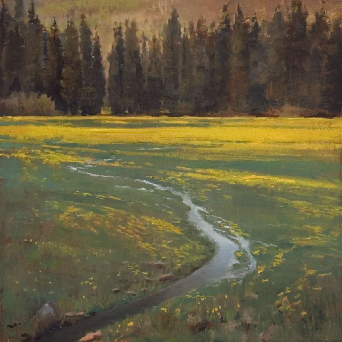Dandelion Field painting by Peter Campbell