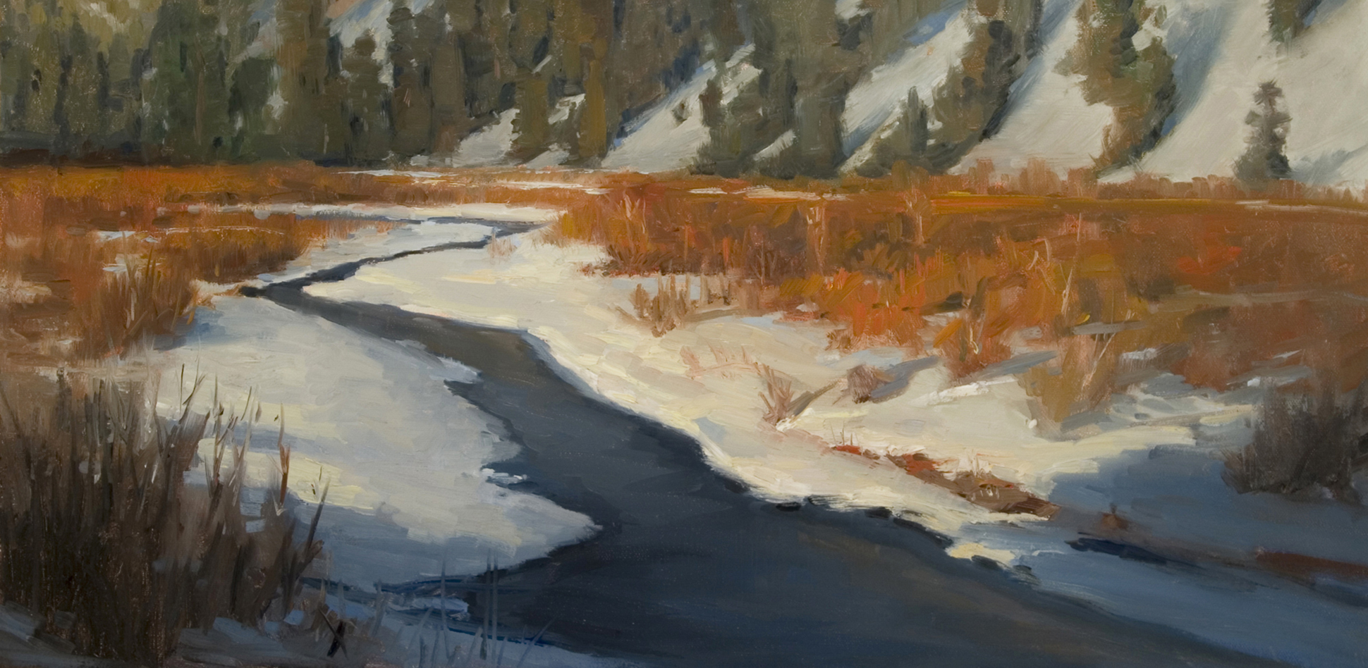 Delores Headwaters painting by artist Peter Campbel