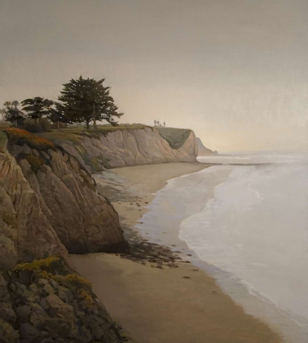 Shell Beach painting by artist Peter Campbel