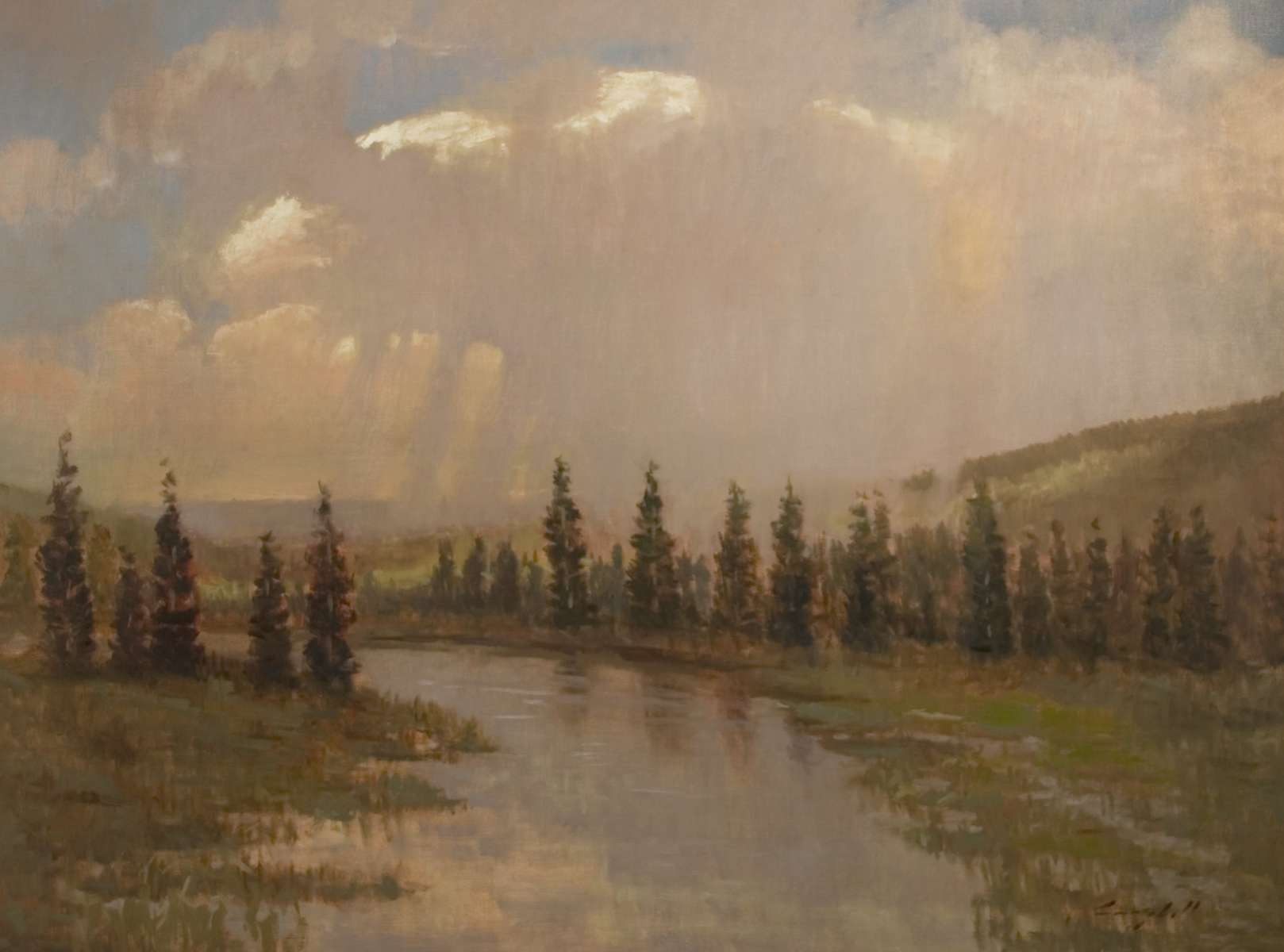 Snake River painting by artist Peter Campbel