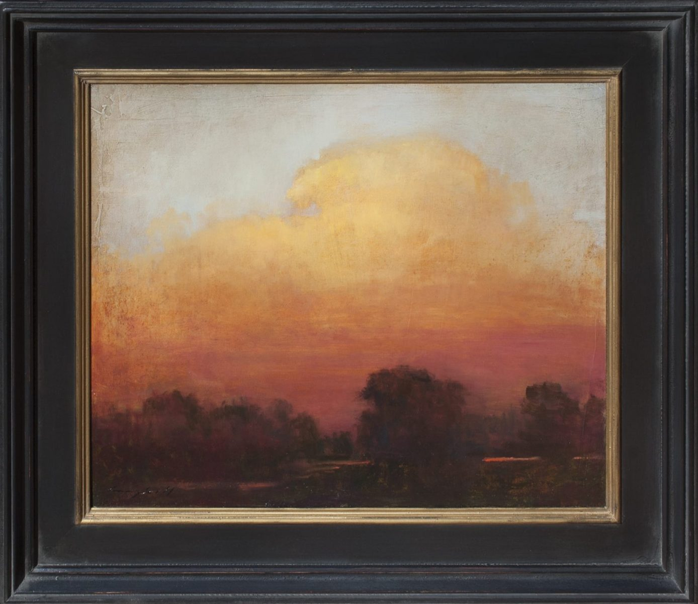 Eventide landscape oil painting by Peter Campbell