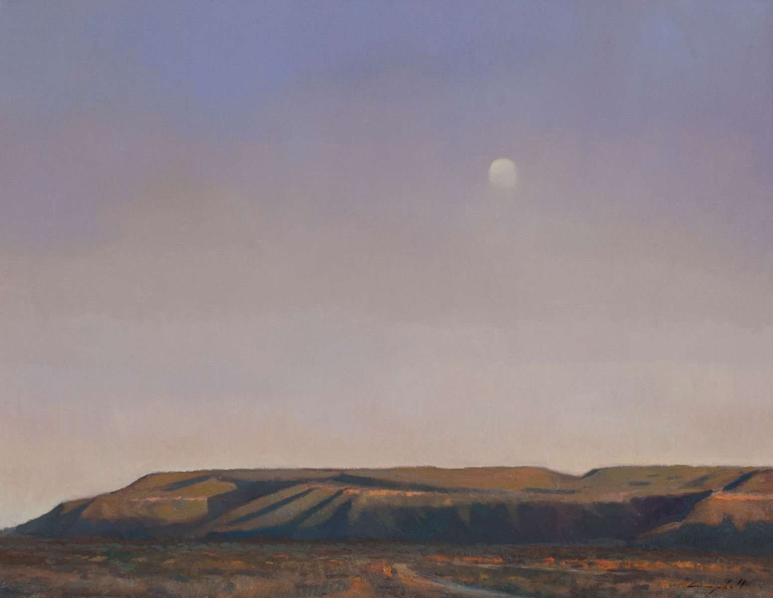 Summer Moon Abiquiu by Peter Campbell