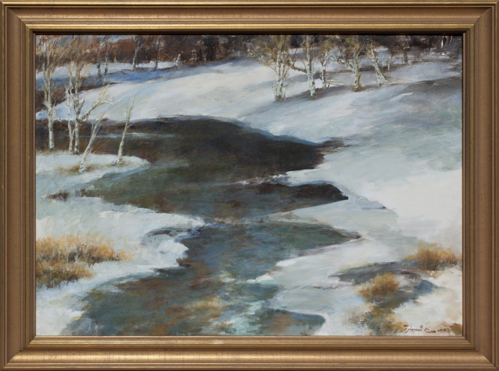 Aspen on the Roaring Fork painting by Ramon Kelley
