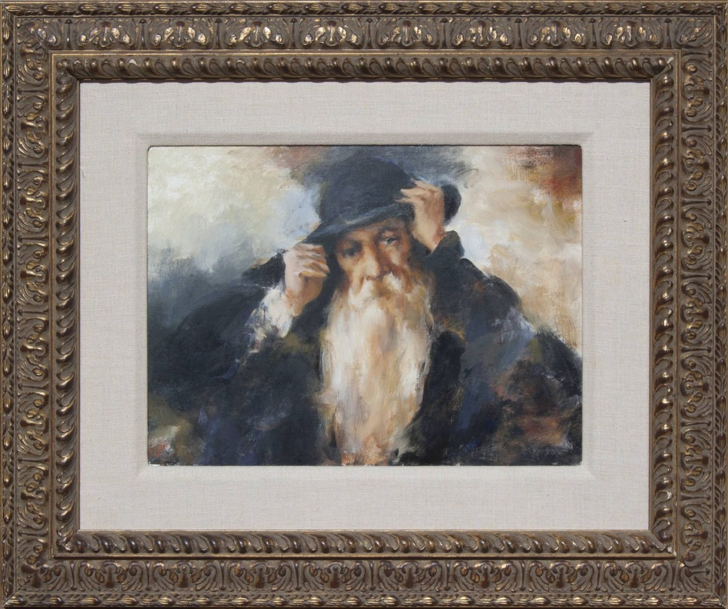 Portrait painting of a colorado trapper by Ramon Kelley