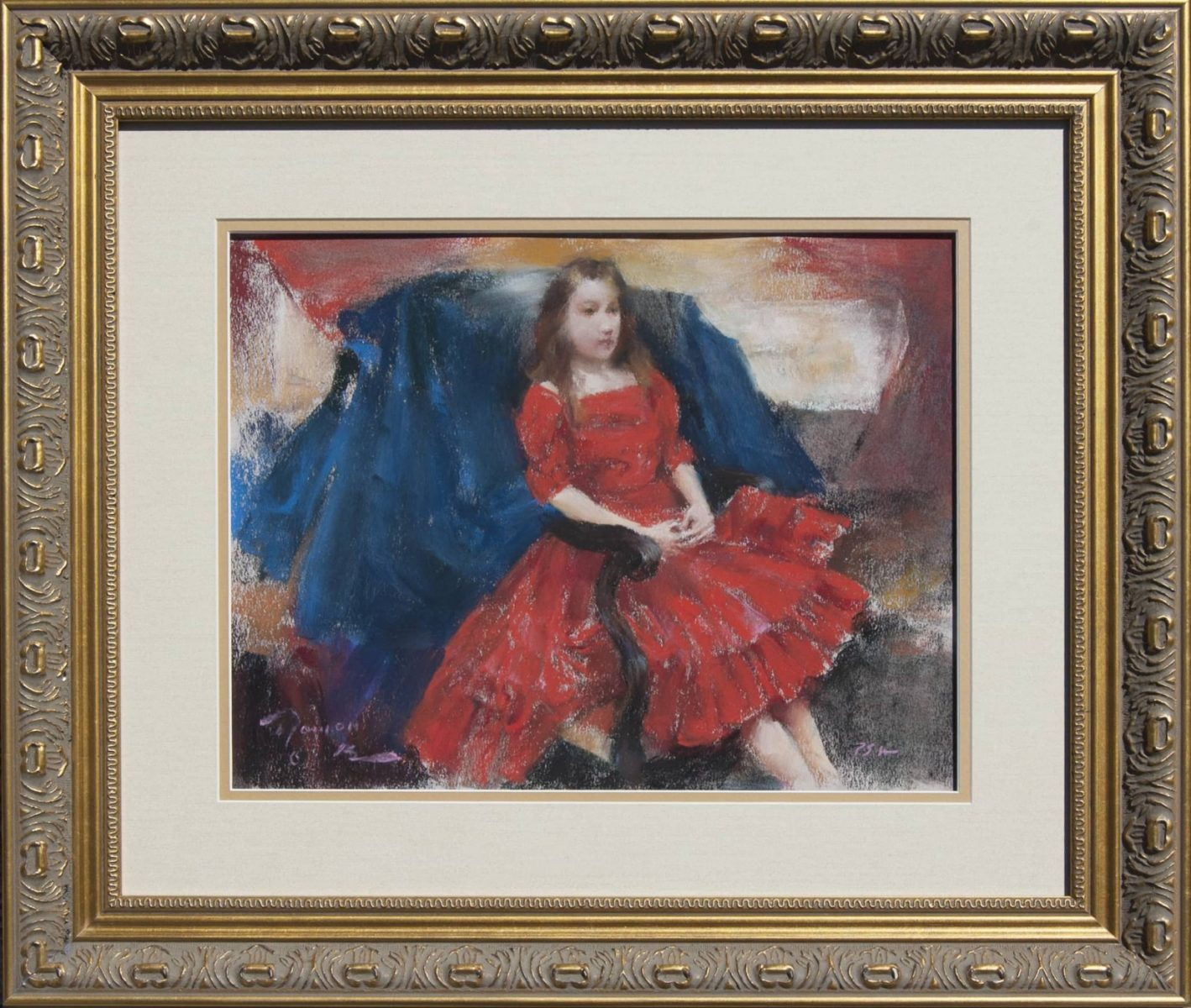 Her New Red Dress painting by Ramon Kelley
