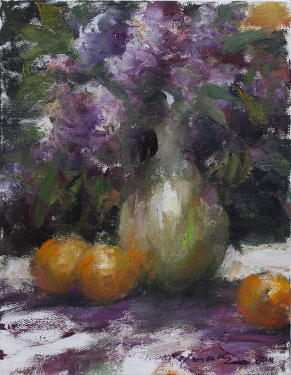 Lilacs and Oranges by Ramon Kelley