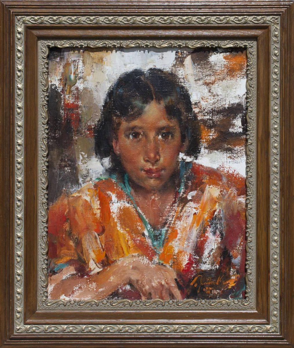Pablita Taos Indian Girl painting by Ramon Kelley