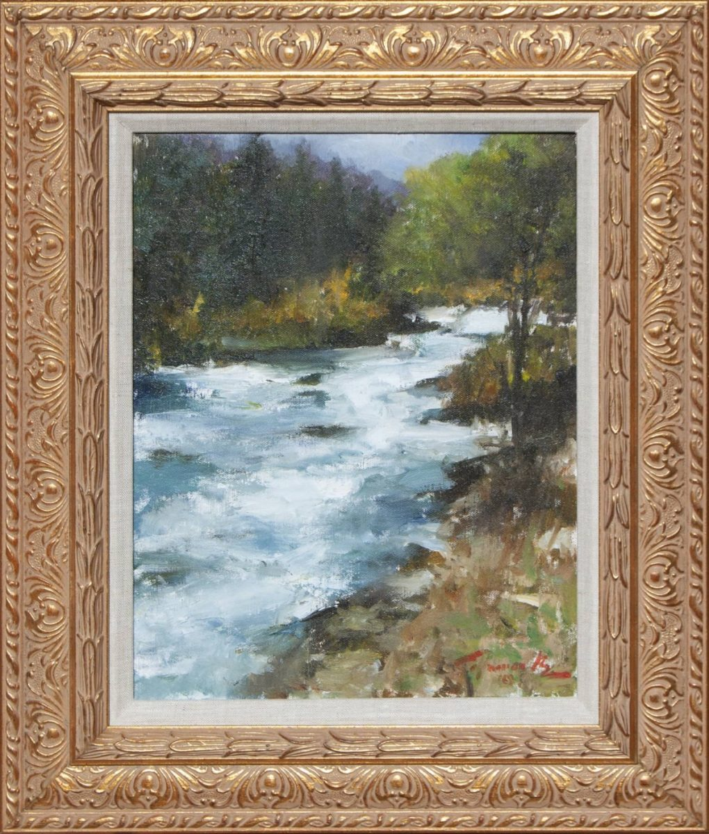 Roaring Fork Near Aspen painting by Colorado artist Ramon Kelley