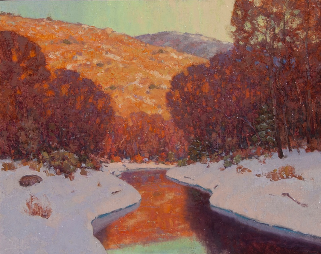 winter painting by David Ballew