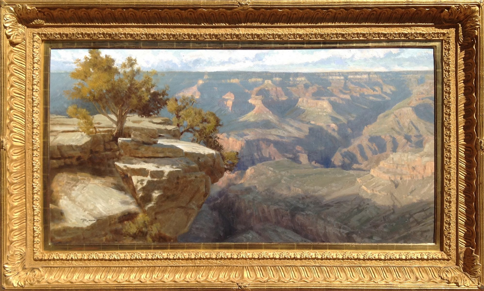 Canyon painting by landscape artist Phill Nethercott